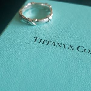 """Tiffany & Co """"X"""" Sterling ring"""